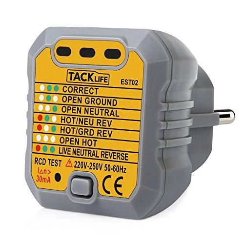 PASS: Tacklife -EST02 Steckdosen Tester Automatischer Stromkreis ...