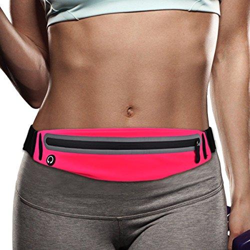 Filoto Running Belt, Waterproof Running Waist Pack for Women and Men, Fitness Workout Adjustable iPhone X 8 7 6 Belt Sport Pouch