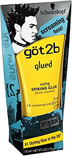 Got2b Hair Glue (Got2b Spiking Glue Size 6z Got2b Glued Styling Spiking Gel)