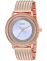 GUESS Women's Quartz Stainless Steel Automatic Watch, Color:Rose Gold-Toned (Model: U0836L1)