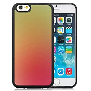 Unique Designed Cover Case For iPhone 6 4.7 Inch TPU With Pink Peach Yellow Lemon Gradation Blur Wallpaper Phone Case