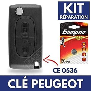 Carcasa de mando llave coche Jongo Peugeot Partner 107 207 ...