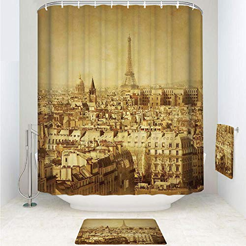 Used, iPrint Polyester Fabric Bathroom Shower Curtain Set for sale  Delivered anywhere in Canada