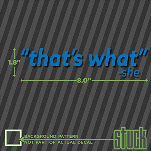 That's What She Said - vinyl decal sticker funny office meme wayne's world car - 8.0