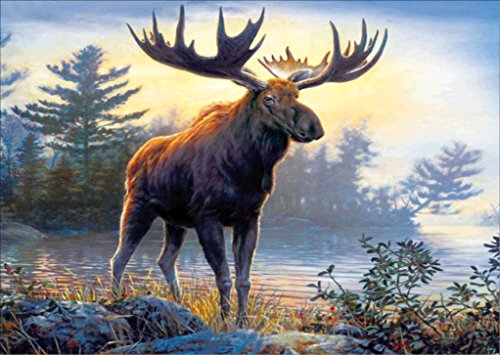 Kit Moose - TianMai Hot New DIY 5D Diamond Painting Kit Crystals Diamond Embroidery Rhinestone Painting Pasted Paint By Number Kits Stitch Craft Kit Home Decor Wall Sticker - Moose River , 30x40cm