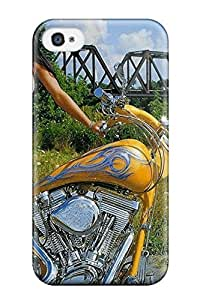 AnnDavidson VTMIlhW13114EVllb Case Cover Skin For Iphone 4/4s (girls And Motorcycles)