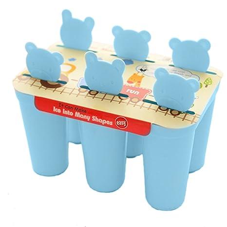 Sunny Jenny para niños y adultos – 6 moldes para sorbetes Formas, sin BPA,
