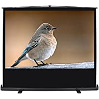 """ARKSEN Pull Up Freestanding Projector Screen 60"""" Inch 16:9 HD Portable Home Theater Aluminum Case w/Carrying Handle"""