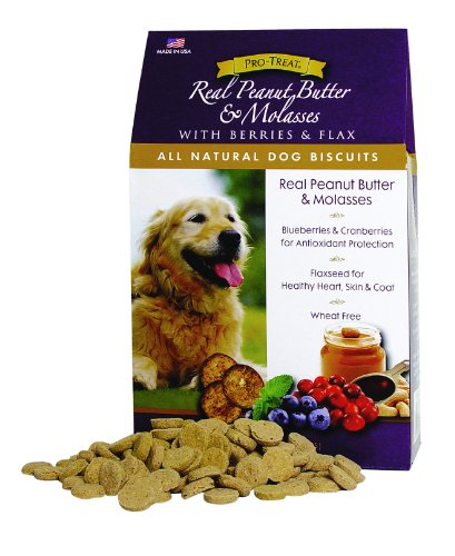 Stewart's Pro-Treat Specialty Treats 16-Ounce Box Real Peanut Butter and Molasses with Berries and Flaxseed Natural Dog Biscuits by MiracleCorp/Gimborn, My Pet Supplies