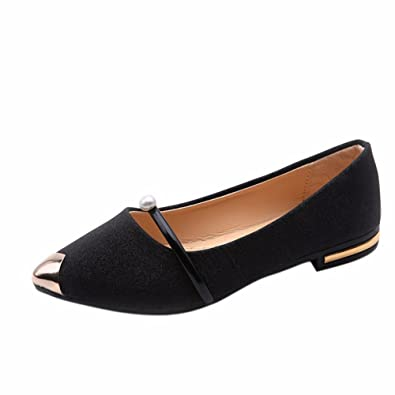 YUCH Femmes Simple Chaussure Confort Et Fond Plat Simple Évidée Chaussures Femmes,Black,37