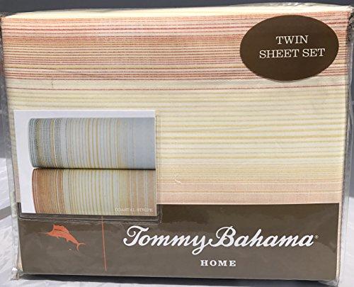 Twin Sheet Set (Tommy Bahama Coastal Stripe Papaya)