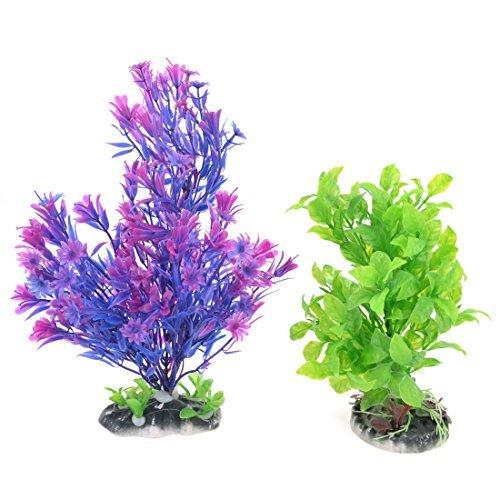 Amazon.com: eDealMax Acuario Artificial de agua Hierba decoración 21cm 27cm 2 PCS Azul Púrpura: Pet Supplies
