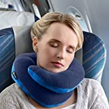 BCOZZY Chin Supporting Travel Pillow - Supports the Head, Neck and Chin in Maximum A Patented Product. (ADULT, NAVY)