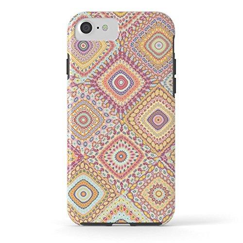 Roses Garden Phone Case Protectivedesign Hard Back Case Granny's Millefiori Quilt-Spring Colors Tough Case iPhone 7 (Rose Millefiori)