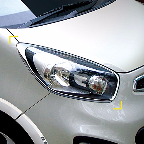 K-849 Chrome Side B Pillar Cover Molding Left Right Set Trim for Hyundai ix35//Tucson ix 2010-2013