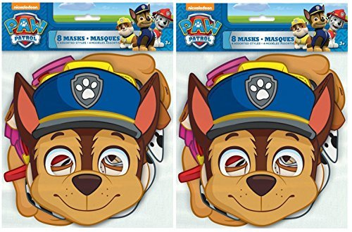 PAW Patrol Party Masks, Assorted 8ct (2 pack) -