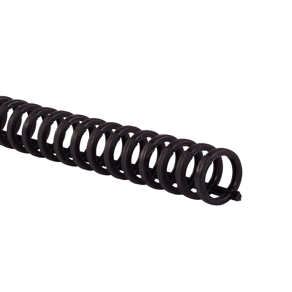 Swingline GBC Binding Spines/Spirals/Coils, 5/16'' Diameter, 45 Sheet Capacity, ProClick, Black, 100 Pack (2514700) by GBC