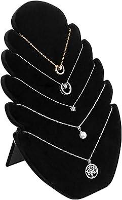 Samt Halskette Anhänger Kette Schmuck Büste Display Halter Stand Marke 2