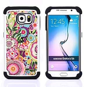 """Hypernova Híbrido Heavy Duty armadura cubierta silicona prueba golpes Funda caso resistente Para Samsung Galaxy S6 / SM-G920 [Patrón de arte de época de verano""""]"""