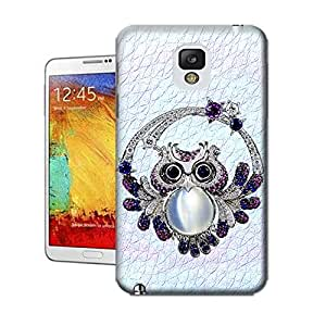 Lavender's shop Owl,Pink,Blue For TPU Hard Cover Case Samsung Galaxy Note3