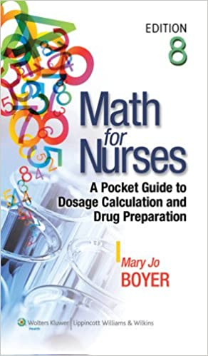 Math For Nurses A Pocket Guide To Dosage Calculation And Drug