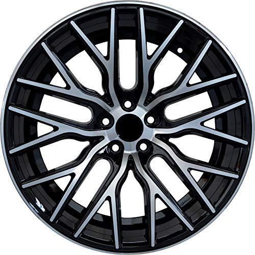 FLARE - 18 inch Black Machined Rims fits BMW 323iT Sport Station Wagon RWD 18x8 5x120 ET40 CB74.1