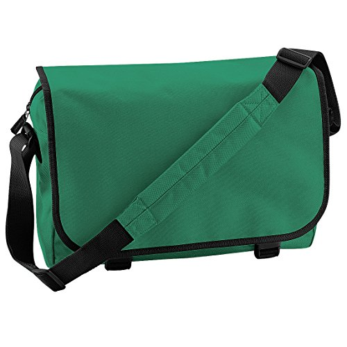 Bagbase Adjustable Messenger Bag (11 Liters) (One Size) (Kelly Green)