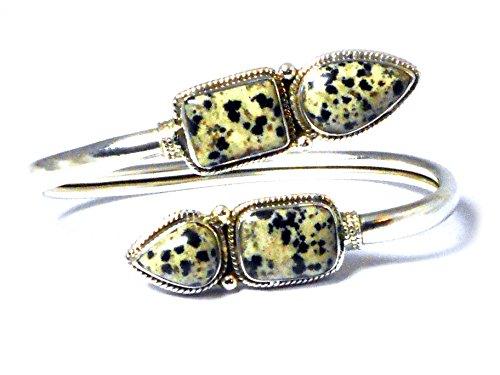 Jaspe dalmatien en argent Sterling 925 Bracelet (DJBN0307151)