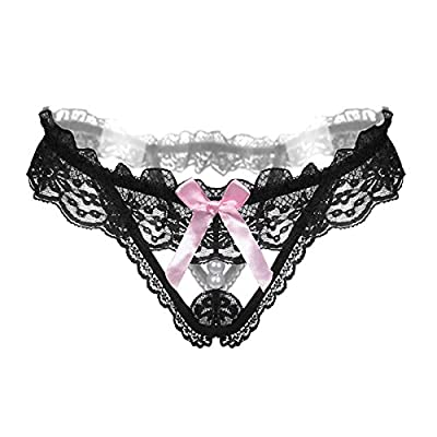 HitZoom Pearls Thongs Panties Lace Sexy G Strings for Women