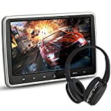 LOSKA 10.1 Inch Ultra Thin Portable Digital HD TFT LCD Headrest DVD Player Car Multimedia Wide Screen Display Player Headrest Monitor with HDMI and Remote Control and IR Headphone