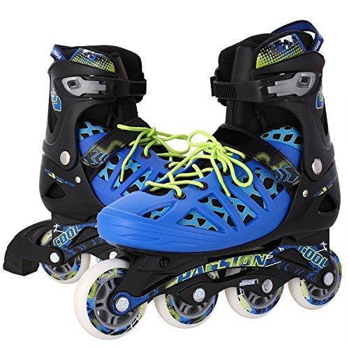 WeSkate Mens Rollerblades Adjustable Outdoor Speed Large Size Buckle Inline ()
