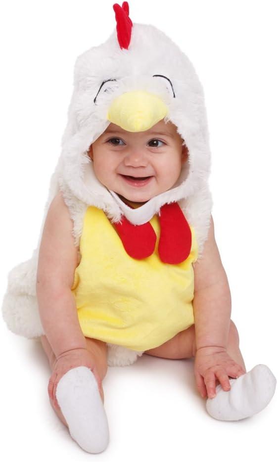 Dress up America Gallo de Peluche Pollo Disfraz de niños adorables, Color, 0-6 Months (3.5-7 kg, 43-61 cm Height) (862-0-6)