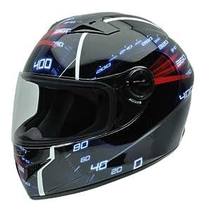 NZI 490018G595 3D Must 390 km/h Casco de Moto, Detalle Velocímetro de Coche, Talla 54
