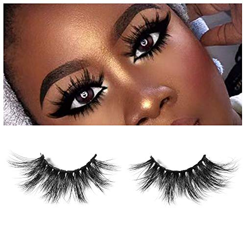 BGGME 25mm Dramatic Look Siberian Mink Fur Eyelashes Stackable & Reusable 2pairs for 1 package Standard Case (S2001)