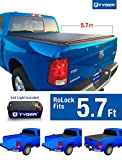 Tyger Auto TG-BC2D2064 RoLock Low Profile Roll-Up Truck Bed Tonneau Cover 2009-2018 Dodge Ram 1500   Fleetside 5.8' Bed   For models without Ram Box