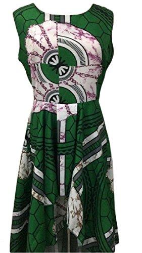 Coolred-femmes Grande Pendule Coupe-vert Robe Sans Manches Tunique Asymétrique