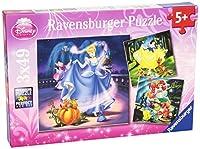 Ravensburger 09339 - Schneewittchen, Aschenputtel und Arielle - 3 x 49 Teile...