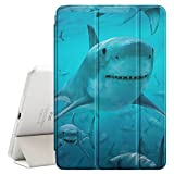 ipad air 2 shark - STPlus Sharks In Water Smart Cover With Back Case + Auto Sleep/Wake Funtion + Stand for Apple iPad Air 2