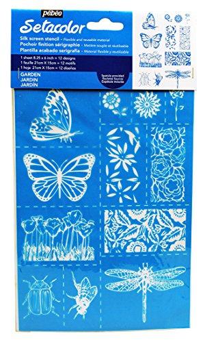 Pebeo 329605 Stencil A5 Garden