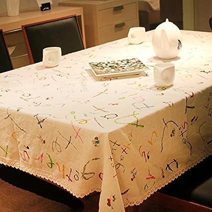 MH-RITA Paño de algodón japonés pintado cartas pastorales fresca pequeña y simple mantel de
