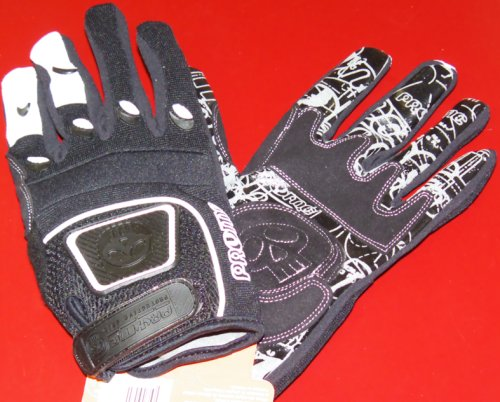2008 Pryme Trailhands BMX Gloves Medium Black/White ()