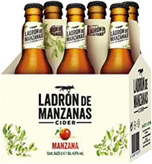 Ladrón de Manzanas Cider - Packs de 6 Botellas x 250 ml - Total: 1.5