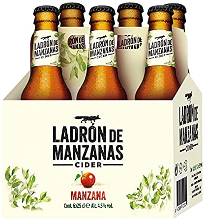 Ladrón de Manzanas Cider - Packs de 6 Botellas x 250 ml - Total: 1.5