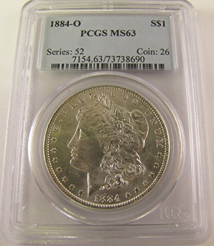 1884 O Morgan Silver Dollar $1 MS63 PCGS