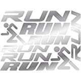 Iron On Experts Reflective RUN. Decals For Running, Jogging, Walking or Cycling High Visibility For Safety At Night