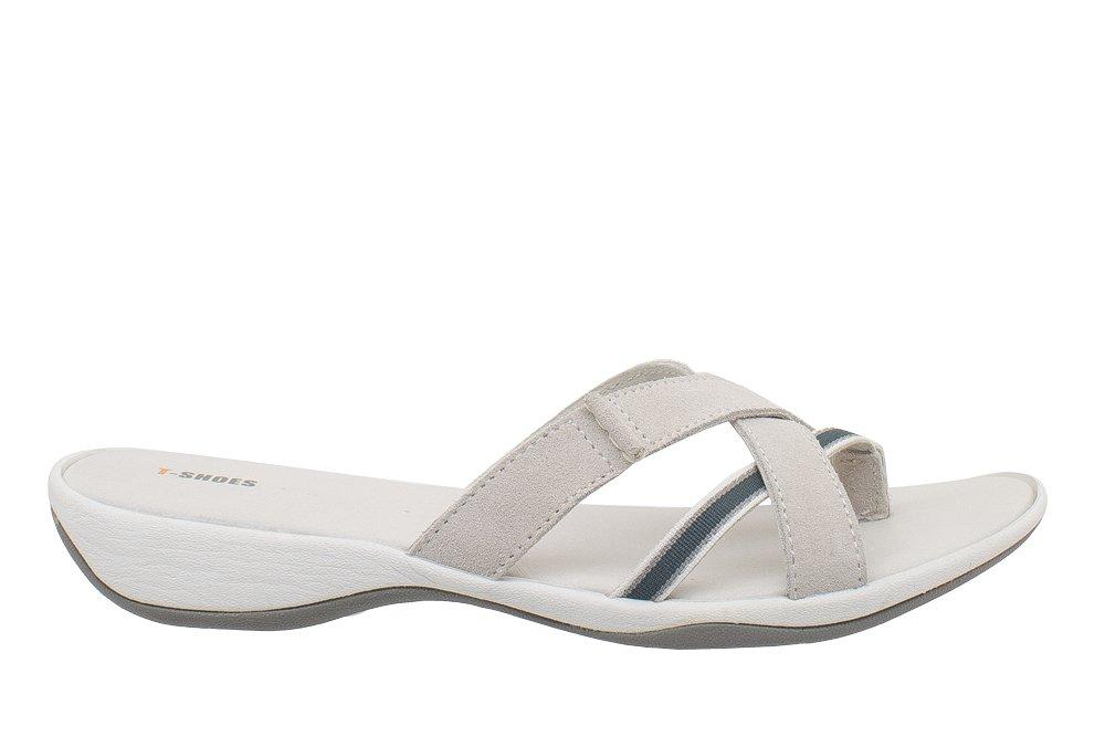 T-Shoes - Minorca - TS020 suede - T-Shoes Sandale en suede Blanc 0a6cf7e - piero.space