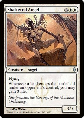 Magic The Gathering Shattered Angel (Best White Angel Cards Mtg)