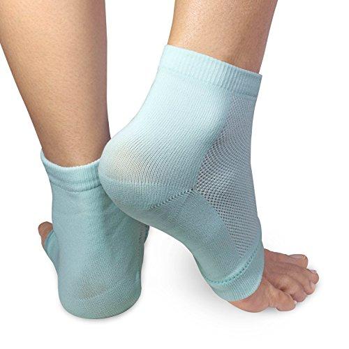 3 PAIRS-Moisturizing Gel Heel Socks w/ Enriched Vitamins for Dry Hard Cracked Heels & DIY Simple Home Remedies by Triim Fitness by Triim Fitness (Image #5)