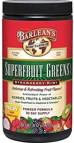 Superfruit Greens - Strawberry Kiwi Barleans 9.52 oz Powder