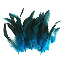 Wholesale 50 beautiful feathers 12-18cm / 4-7inch Deep Blue